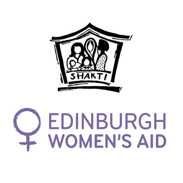 Shakti Women's Aid logo and Edinburgh Women's Aid logo