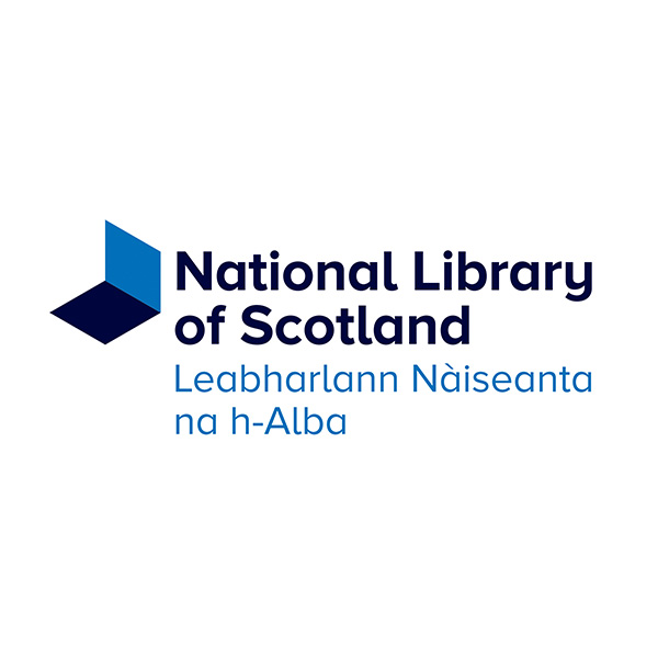 National Library of Scotland logo, the logo is in both English and Scottish Gaelic